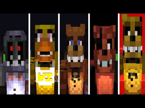 Five Nights at Freddy's: Minecraft Mode || ALL JUMPSCARES ||