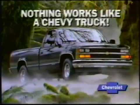 1988 Chevy Full Size Pickup Truck Commercial