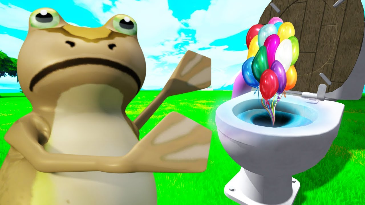 FLUSHING THINGS DOWN THE TOILET FOR SECRETS IN AMAZING FROG!