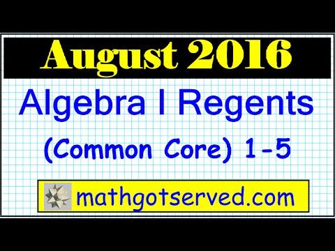 august 2016 algebra 1 1 5 nys regents exam common core. Black Bedroom Furniture Sets. Home Design Ideas