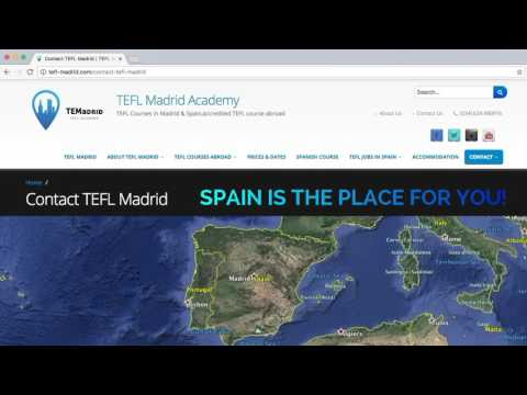 TEFL Courses in Madrid, Spain. Accredited TEFL course abroad