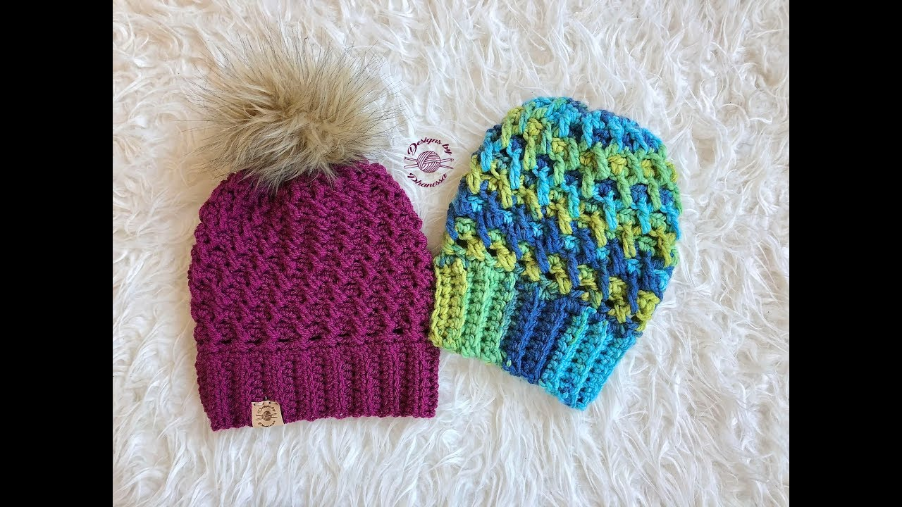 7b87e3b8fc8 Crochet Rippled Slouch Beanie Tutorial - YouTube