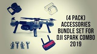 (4 Pack) Accessories Bundle Set for DJI Spark Combo 2019