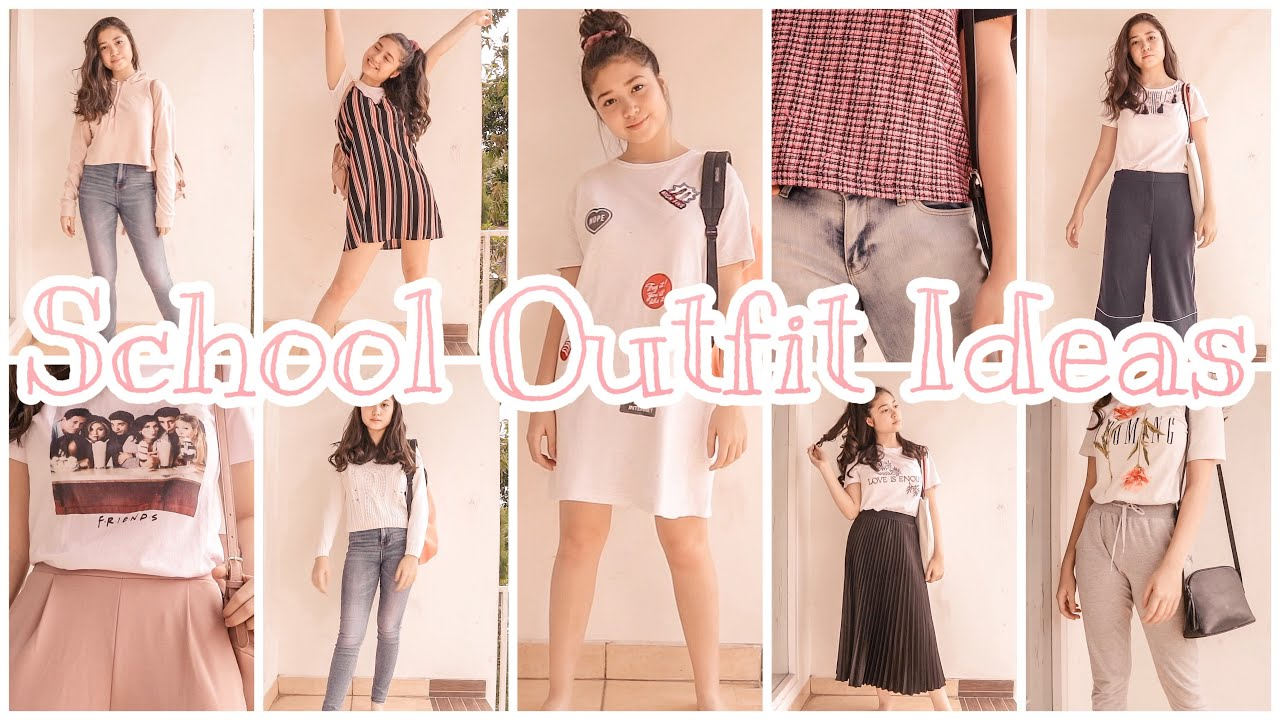 [VIDEO] - Cute & Simple High School Outfit Ideas | Homeschool 2019 Indonesia 1