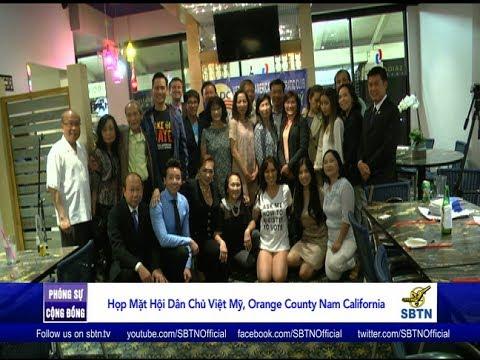 PHÓNG SỰ CỘNG ĐỒNG: Buổi họp mặt của Hội Dân Chủ Việt Mỹ tại Nam California