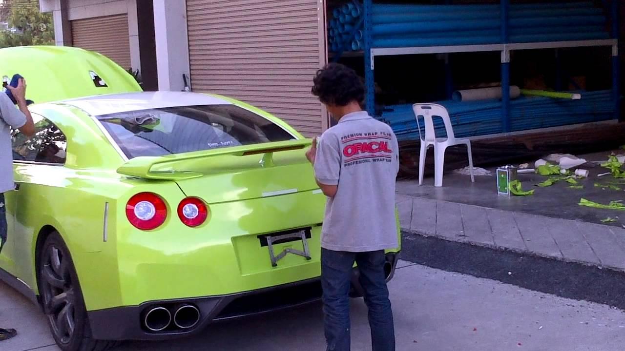 ab8be9402bd TONY WRAP CAR ฟิล์มเปลี่ยนสีรถ Wrapรถ Car Wrap ราคาพิเศษ | Glossy Laser  Green Wrap Car Tony Wrap