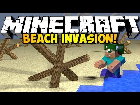 MINECRAFT BEACH INVASION! (HD)