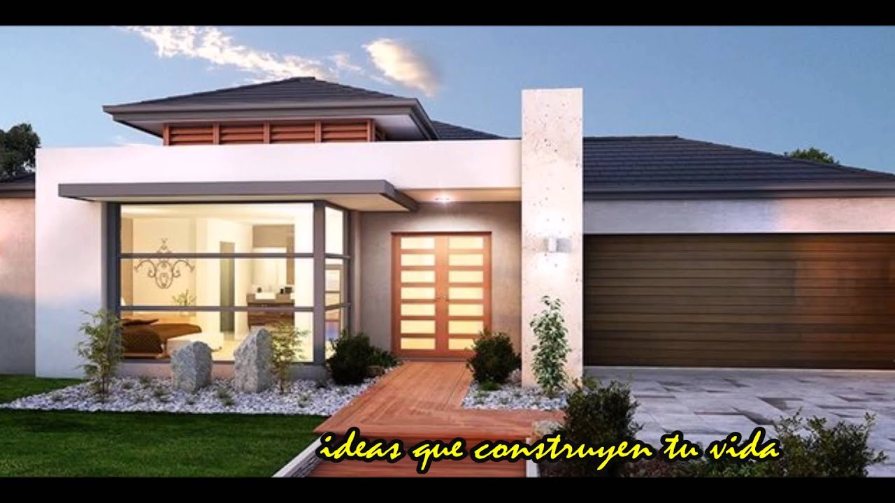 Ideas para tu casa fachadas de exteriores youtube for Ideas para pintar fachadas de casas