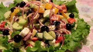 ГРЕЧЕСКИЙ САЛАТ ЕЩЕ ВКУСНЕЕ! / Greek Salad / YUNAN SALATASI/ САЛАТ НА НОВЫЙ ГОД/ САЛАТЫ!!!!