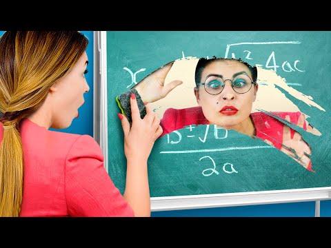 9 RAROS TRUCOS PARA SOBREVIVIR EN CLASE / ¡BROMAS PARA EL REGRESO A CLASES!
