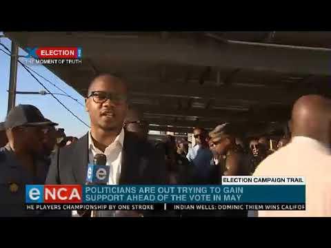 Ramaphosa on campaign trail at Pretoria train station