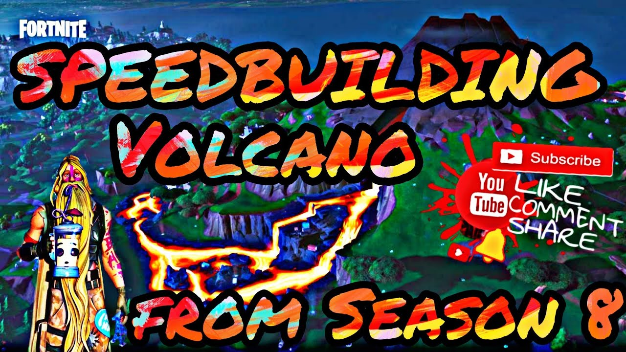 HOW i built The Volcano from Season 8 map 🛠👷‍♂️🌋 (*Speedbuilding*)