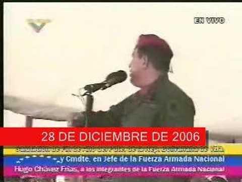 RCTV fuera del aire en Marzo 2007 - Chavez