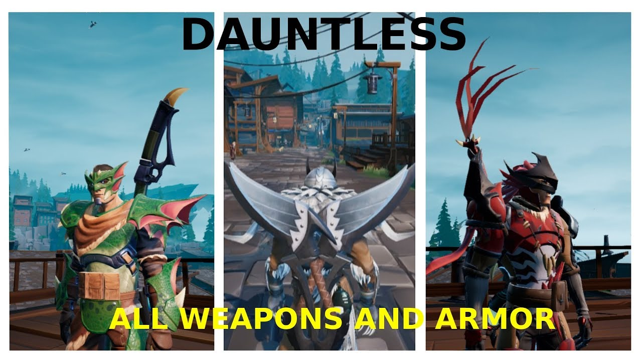 All Armors and Weapons in Dauntless (Patch 0 2 1)