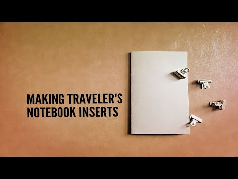 How To: Traveler's Notebook DIY Inserts