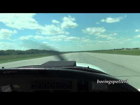 Taxi & takeoff in a Grumman American AA-5A @ CYRP | HD