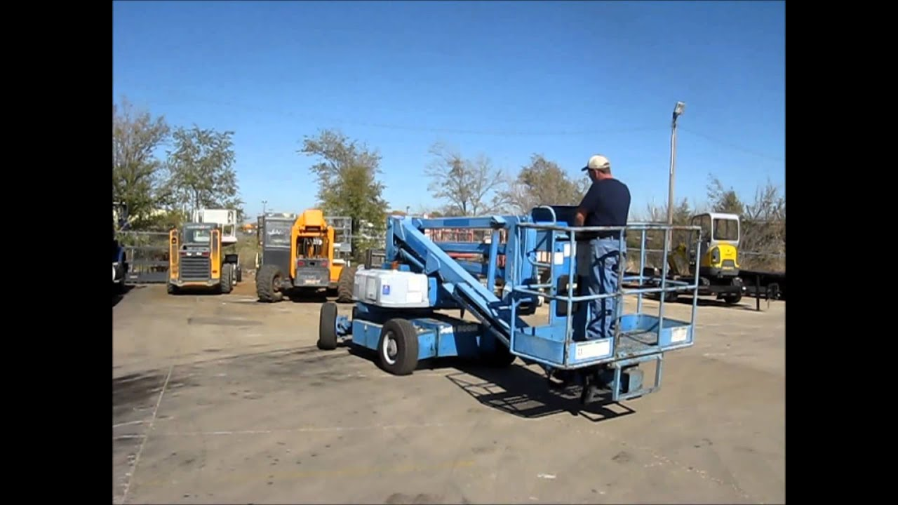 1993 genie z 45 22 knuckle boom lift for sale sold at auction rh youtube com Genie 2 45 Genie Manlift