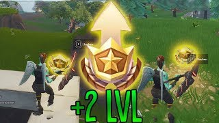 SECRET BONUS Battle Pass Stars! | (2 LvL UP) | Fortnite Battle Royale