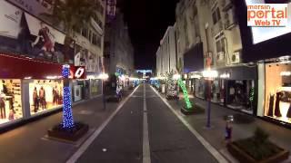 Mersin 2015 Yılbaşı Hazırlıkları   Enteller Caddesi Işıklandırma