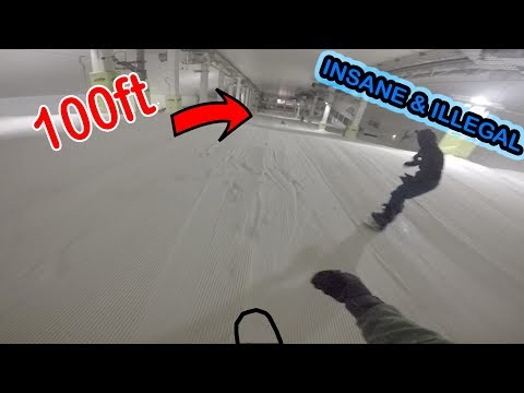 INSANE OVERNIGHT INDOOR SKISLOPE *ILLEGAL*