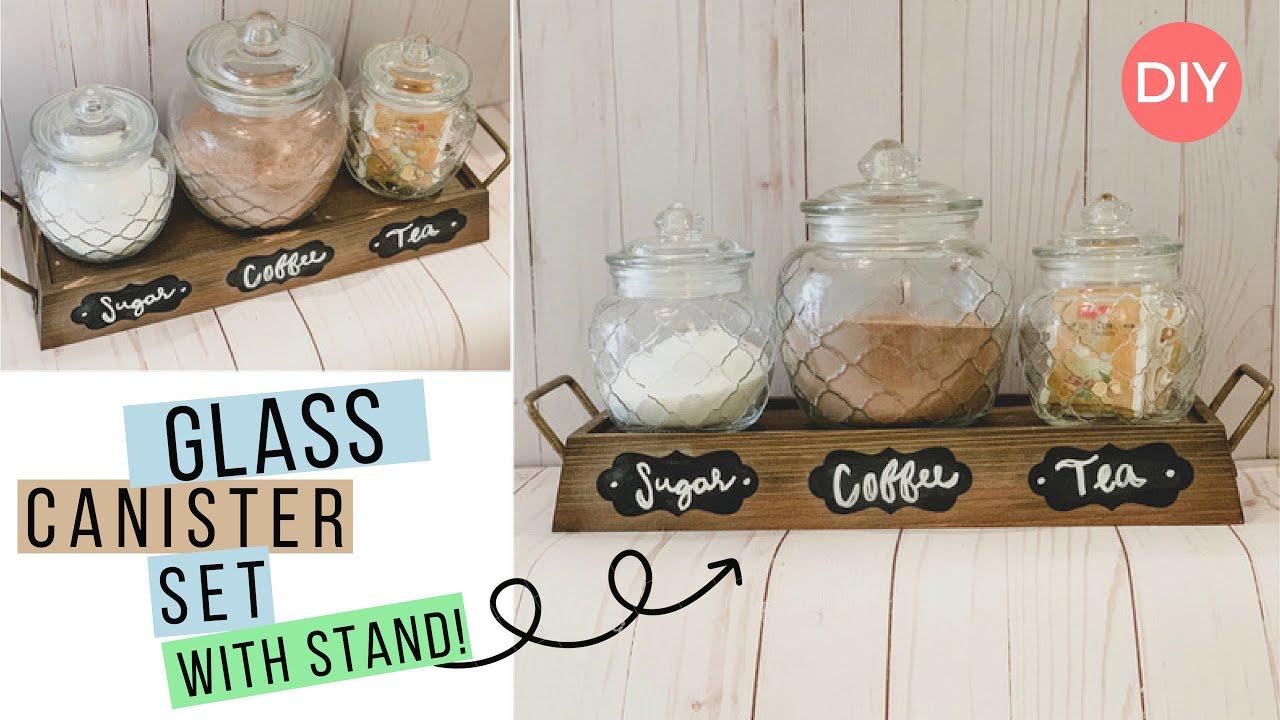 3 Piece Glass Jars Storage Diy Idea Organizational Budget Friendly Ashleigh Lauren Youtube
