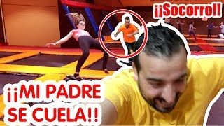 Mi padre SE CUELA en el gimnasio Olímpico + Super SALTOS // Los familukis