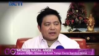 Steven Rayakan Natal Tanpa Angel Karamoy