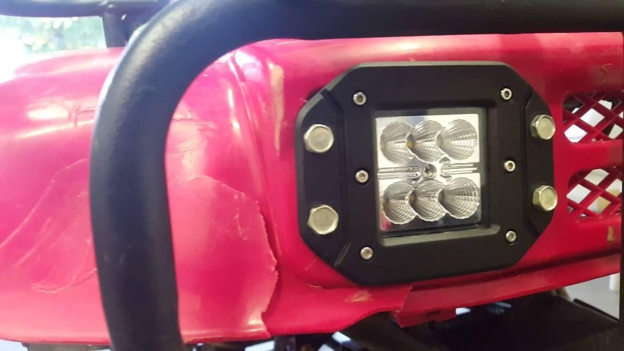 Honda 300 Flush Mount Led Headlights Youtube