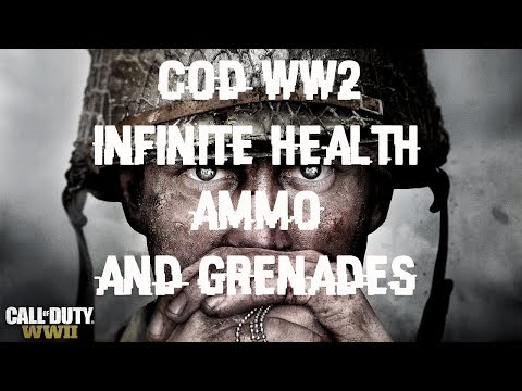 Call of Duty World War 2  Unlimited Health,Ammo and Grenades hack with Cheat Engine