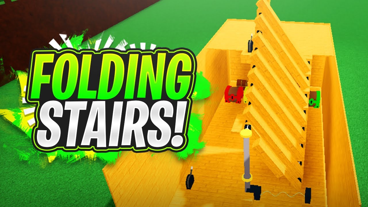 FOLDING STAIRS!!! (Tutorial) - Build a Boat For Treasure ROBLOX