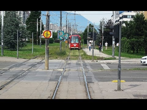 Sarajavo Trams   Driver's Eye View at x 3 Speed