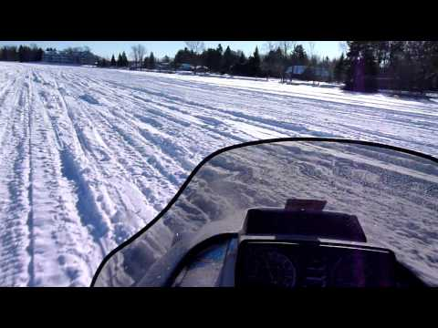Riding my 1994 Polaris RXL on Lake Cadillac on January 23, 2011 Travel Video