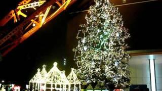 2010_11_26 東京タワー下のクリスマスツリー 時間が来ると音楽が流れ出...