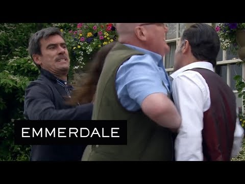 Emmerdale - Graham Tries to Provoke Cain Into a Fight