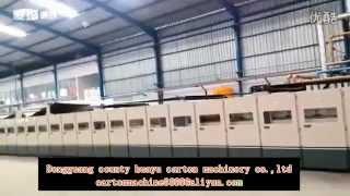 wj 2000 180 5 automatic corrugated cardboard production line