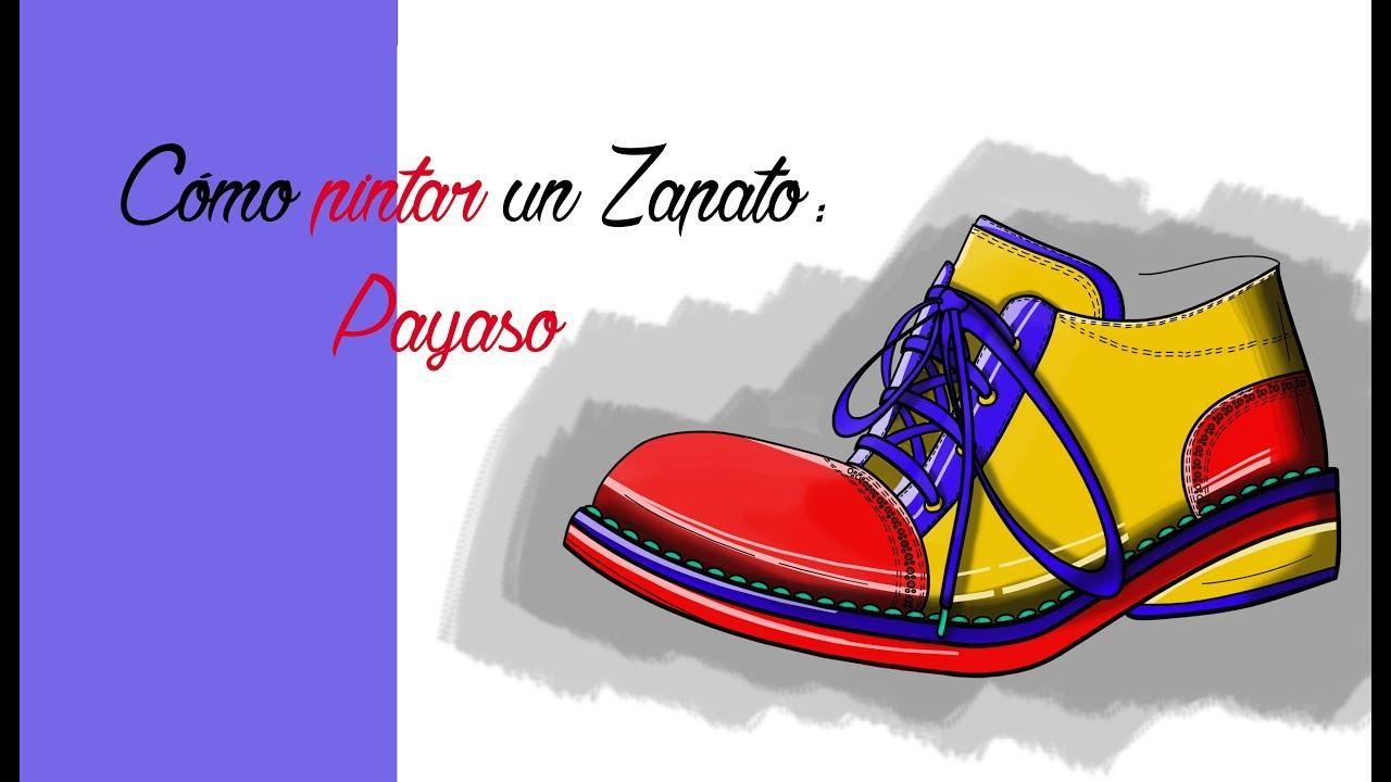 Cómo Colorear Unos Zapatos De Payaso Speedpainting