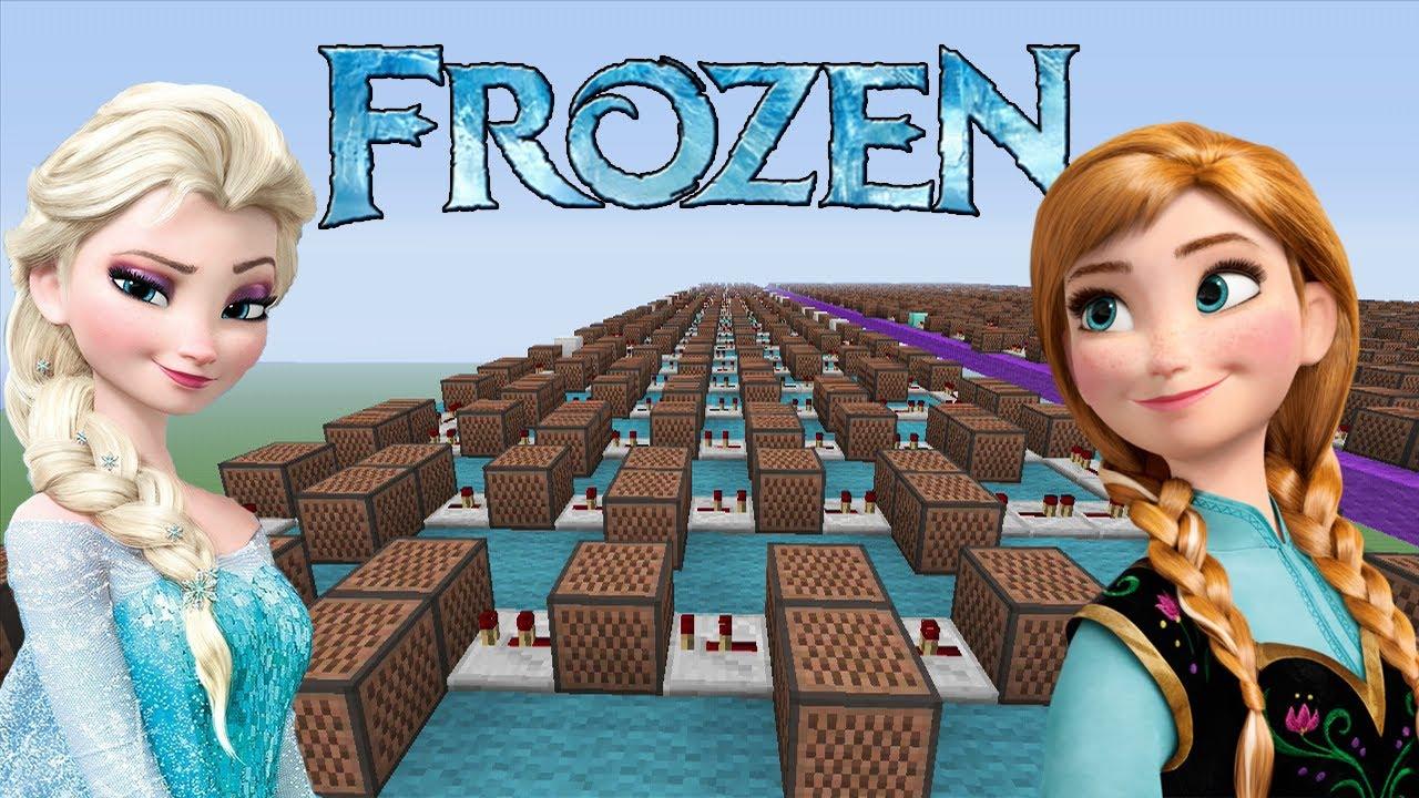 Frozen let it go minecraft xbox noteblock