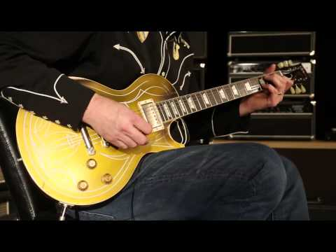 Gibson Custom Shop Billy Gibbons 1957 Pinstripe Les Paul Goldtop Aged  •  SN: GIBBONSGT046