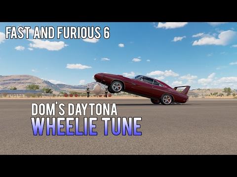 Forza Horizon 3 | The Best Dodge Daytona Charger Wheelie Tune | Doms Daytona Fast And Furious 6