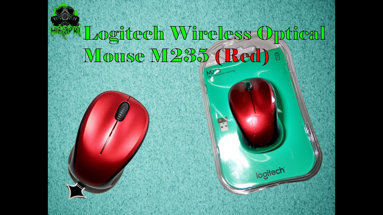 Logitech Wireless Optical Mouse M235 Unboxing (RED) !