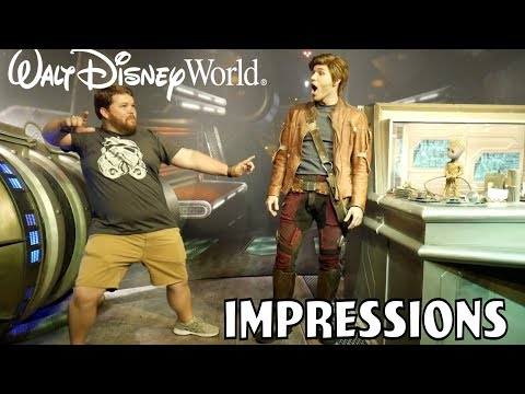 Dancing with Star Lord and Groot - Disney World Impressions