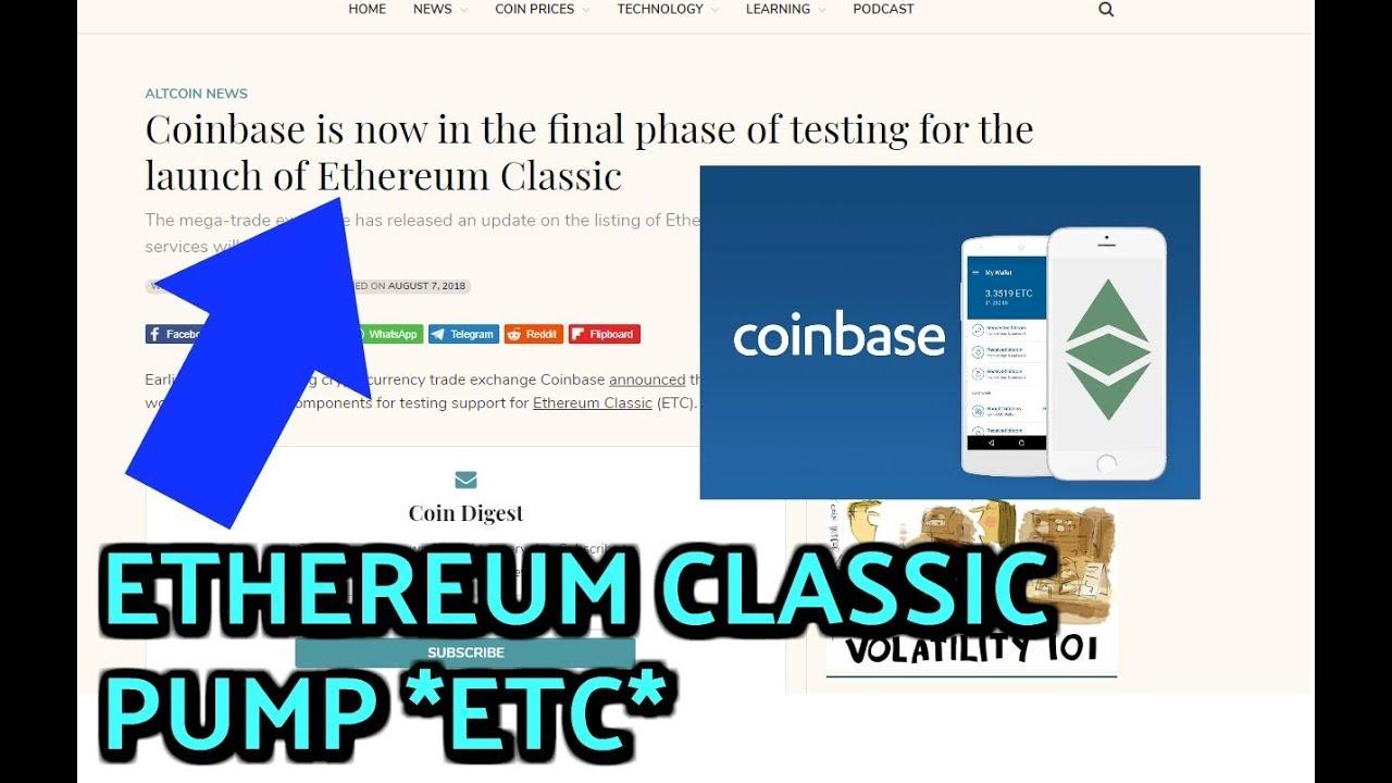 etc news coinbase