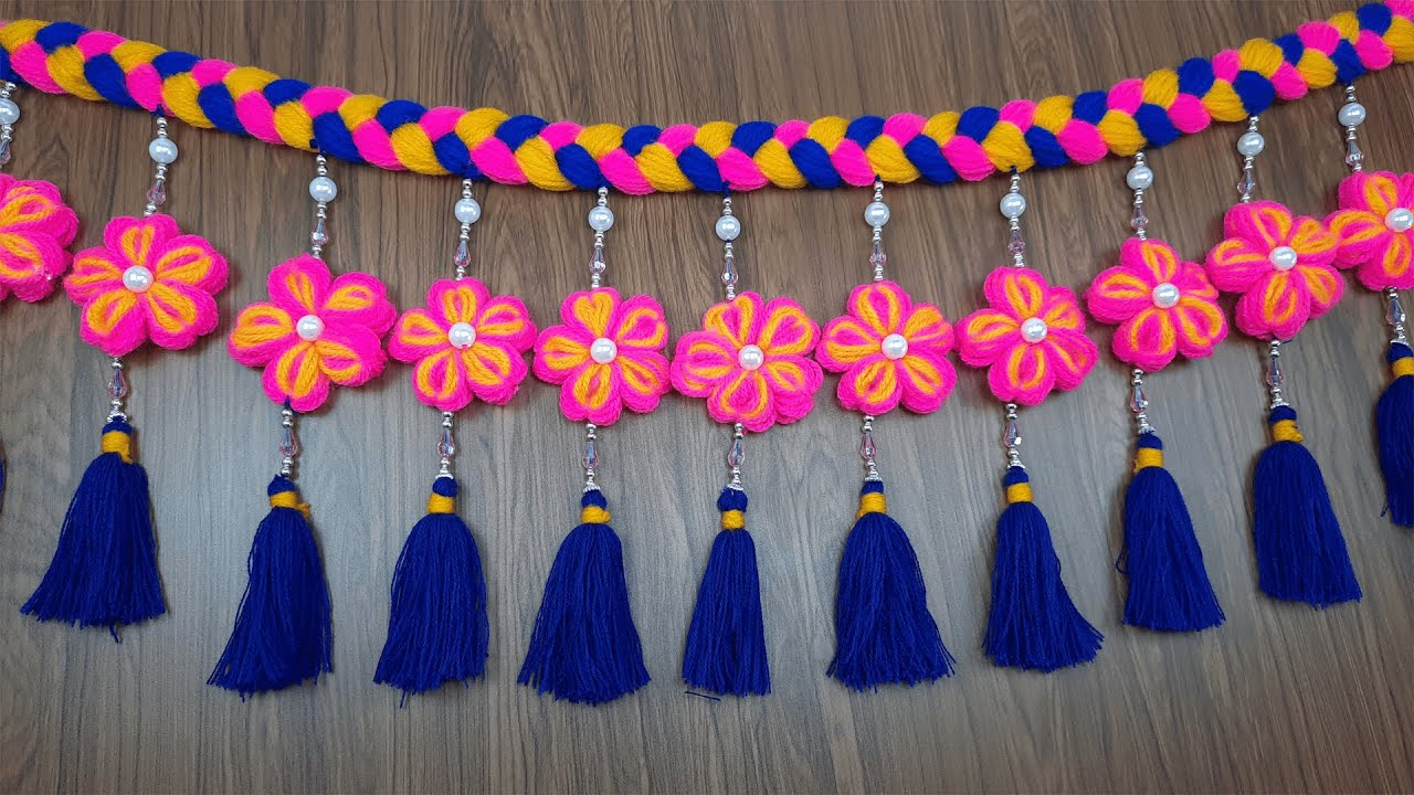 Amazing Trick with Hair Comb   Easy Woolen Flower Making   Hand Embroidery Design   Sewing Hack