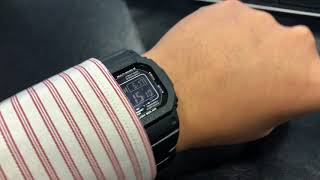 Casio G-Shock GW-M5610BC-1JF JDM Multi Band 6 with Bracelet on my wrist
