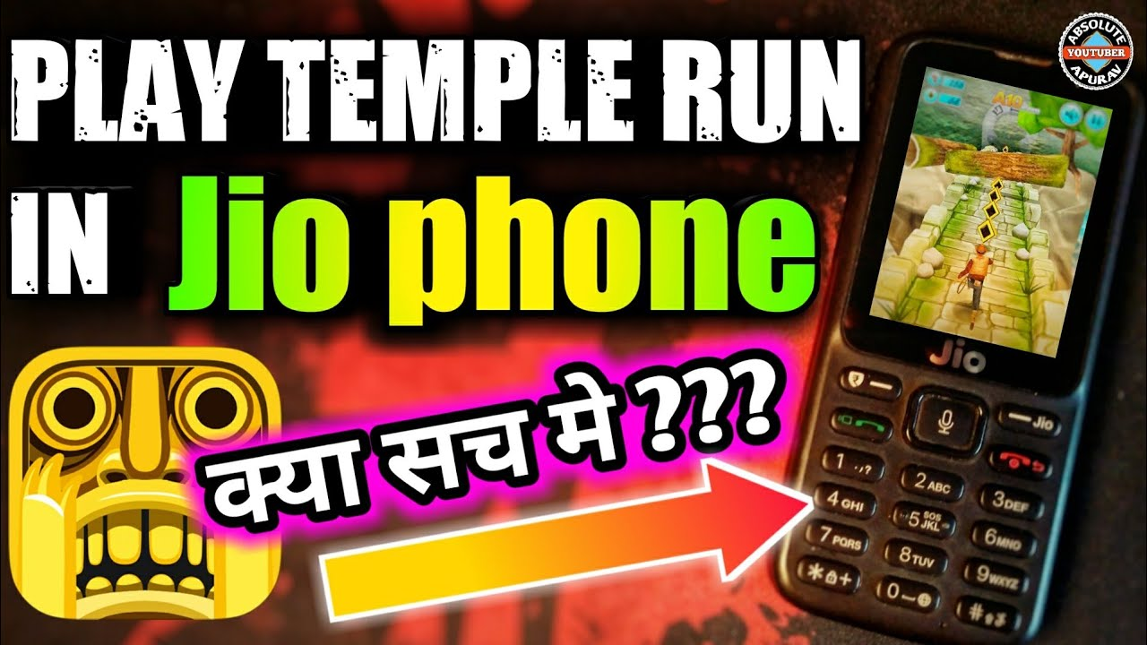 Jio Phone Games Can We Play Temple Run In Jio Phone
