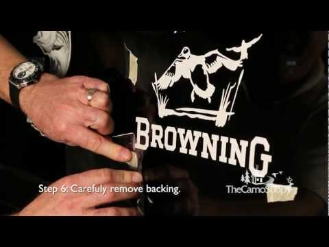 Camo Truck: Browning Camo Decal Sticker Installation