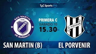 San Martín Burzaco vs El Porvenir full match
