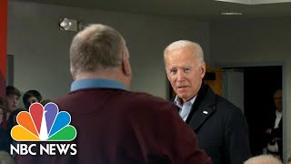 Biden Has Tense Exchange With Voter Over Age, Son Hunter: 'You're A Damn Liar' | NBC News