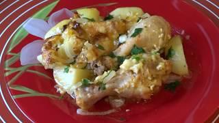 Куриные Ножки, Запеченные в Духовке с Картофелем/Chicken with potatoes