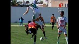 تدخل خطير و عنيف على نجم الترجي التونسي  سعد بقير  في مباراة حمام الأنف